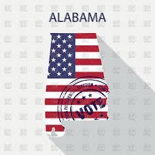 Alabama State Map Alabama State Flag And Map Outline Vector Image 10054 U2013 Rfclipart