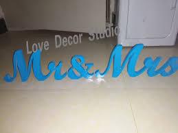 Mr And Mrs Wedding Signs Aliexpress Com Buy Tiffany Blue Sign Mr U0026 Mrs Wedding Decoration