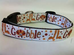 thanksgiving gobble turkey collar by polkadottails