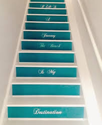 painted staircases with a nautical beach vibe blue u0026 artsy