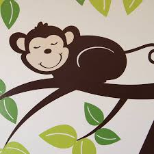 personalised monkey tree wall stickers parkins interiors personalised monkey tree wall stickers