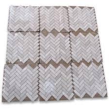 crema marfil 1x3 herringbone mosaic tile tumbled marble from spain