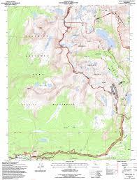 Buckeye Trail Map Tioga Pass Topographic Map Ca Usgs Topo Quad 37119h3