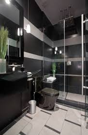 Grey And Black Bathroom Ideas Black And Gray Striped Contemporary Bathroom Contemporary