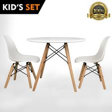 kids furniture table and chairs urbanmod kids eames style modern white table set