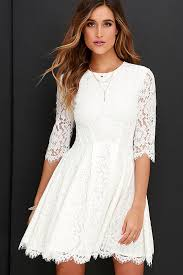 darling ivory dress lace dress skater dress 78 00