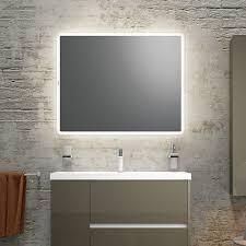 Rectangle Bathroom Mirrors Wall Mounted Bathroom Mirror Led Illuminated Contemporary