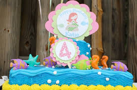 a mermaid birthday party for a 4 years old at home with kim vallee