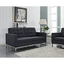 Grey Leather Tufted Sofa by Furniture Interesting Great Grey Loveseat With Fascinating Aura