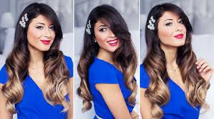 glam waves holiday hairstyle youtube