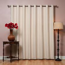 Thermal Curtains Patio Door by Quality Home Flame Retardant Wide Basic Blackout Curtain Beige