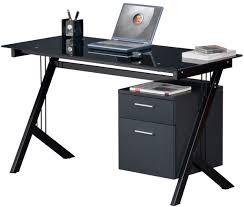 Black Glass Computer Desk Charming Glass Computer Desk With Drawers Computer Desk Black