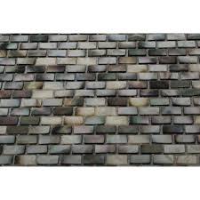 grays 3x6 tile flooring the home depot mother of pearl deep ocean gray mini brick pearl shell mosaic