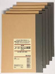 amazon com muji gel ink amazon com muji notebook a6 6mm ruled 30sheets pack of 5books
