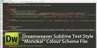 configure xp dreamweaver dark code view theme color scheme for dreamweaver cs3 sublime
