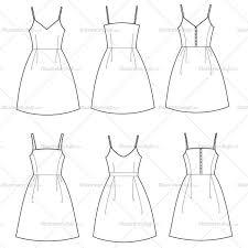 women u0027s spaghetti strap dress fashion flat templates u2013 illustrator