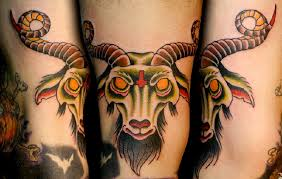 colored angry aries tattoomagz