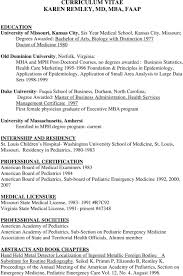 Sample Medical Student Resume Curriculum Vitae Sample Medical Residency