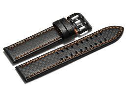 bracelet cuir montre images Bracelet montre cuir noir gaufrage fa on carbone double a png