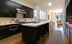 Images Of Kitchens With Black Cabinets Black Kitchen Cabinets Photo Gallery For Website Black And White