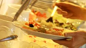 Select Comfort Stock Restaurant Guests Select Food From A Buffet Stock Footage Video