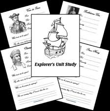 free explorers unit study frugal homeschool family kid blogger