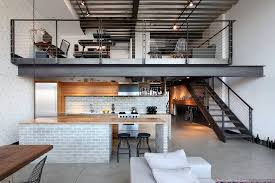 loft railing ideas kitchen industrial with shed architecture