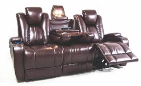 Theater Sofa Recliner Synergy Home Furnishings Living Room Naples Power Reclining