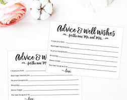 wedding wishes and advice cards wedding advice cards etsy