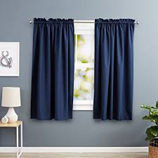 63 Inch Drapes Amazon Com Amazonbasics Room Darkening Thermal Insulating