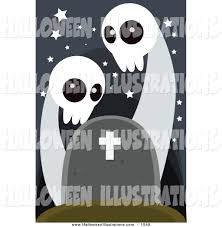 halloween headstones clip art of spooky ghosts over a headstone by mayawizard101 1549