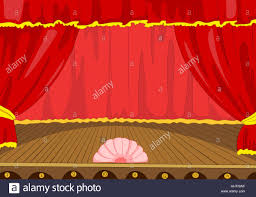 Velvet Curtains Theater Stage With Velvet Curtains Vector Cartoon Background