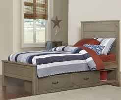 Kids Twin Bed With Storage Ne Kids Highlands Twin Alex Bed With Flat Panel Headboard And