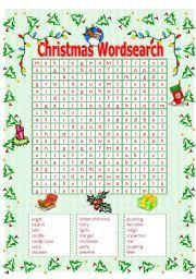 english teaching worksheets christmas word search