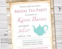 bridal tea party invitations bridal weddings archives party designs