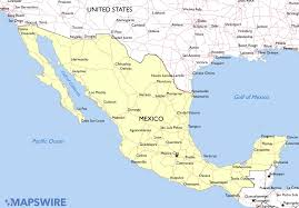 map of mexuco free printable map of mexico travel maps and major tourist