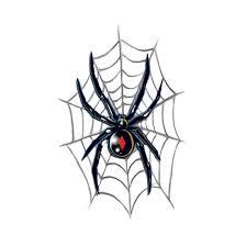 black widow on spider web tattoo design idea on paper golfian com
