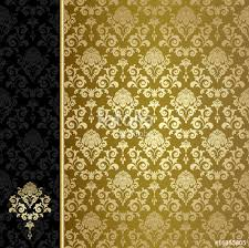 Gold Flowers Background With Gold Flowers And Leaves