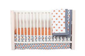 Orange Crib Bedding Bacati Playful Fox Orange Grey 10 Pc Crib Set Bumperfree