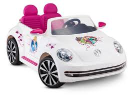 volkswagen pink disney princess volkswagen beetle 12 volt ride on toys