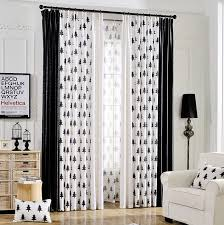 And White Curtains Black And White Tree Print Linen Cotton Blend Bedroom Curtains On Sale