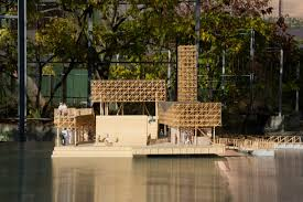 Home Reflections Design Inc by Swiss Students Design Wooden Floating Island For Lake Zurich Art