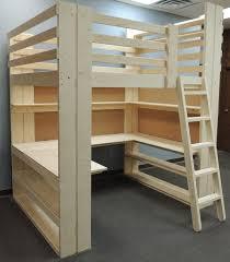 loft bed with desk interesting inspiration wood loft bed with desk decorating twin