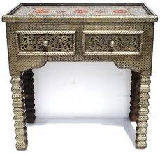 moroccan silver console