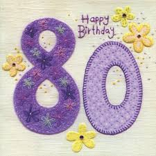 finished 80th birthday card karenza paperie