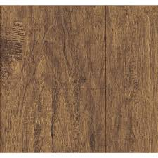 Lowes Laminate Floor Shop Swiftlock 5 24 In W X 4 23 Ft L Nutmeg Hickory Wood Plank