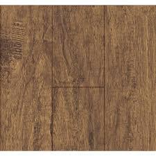Lowes Floors Laminates Shop Swiftlock 5 24 In W X 4 23 Ft L Nutmeg Hickory Wood Plank