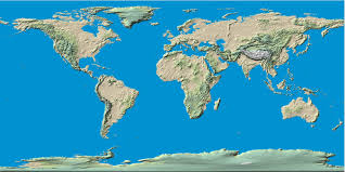 Elevation Map Usa by World Political Map