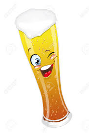 cartoon beer beer glass mug with foam cartoon character smiling funny stock