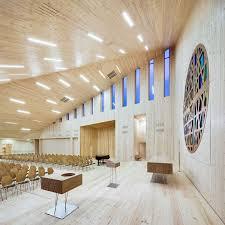 norwegian interior design community church in norway displays iconic geometry freshome com
